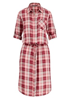 Ralph Lauren Plaid Drawstring Shirtdress