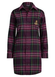 Ralph Lauren Plaid Flannel Sleep Shirt