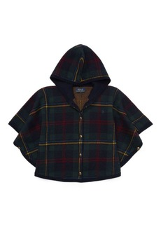 Ralph Lauren Plaid Hooded Poncho Sweater