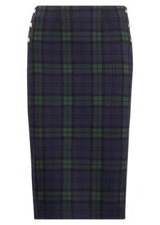 Ralph Lauren Plaid Knit-Jacquard Skirt