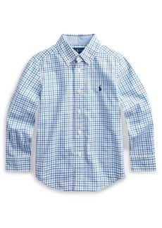 Ralph Lauren Plaid Natural Stretch Poplin Sport Shirt  Size 5-7
