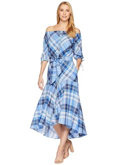 Ralph Lauren Plaid Off the Shoulder Dress