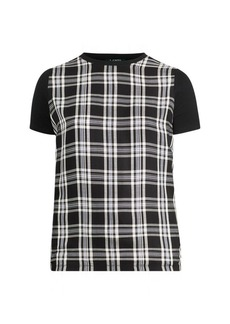 Ralph Lauren Plaid-Panel T-Shirt