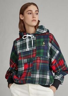 Ralph Lauren Plaid Patchwork Fleece Hoodie