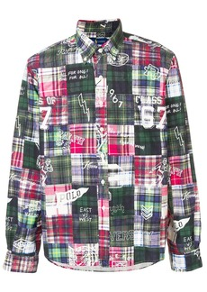Ralph Lauren plaid patchwork shirt