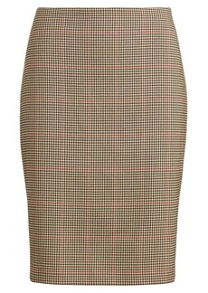 Ralph Lauren Plaid Pencil Skirt