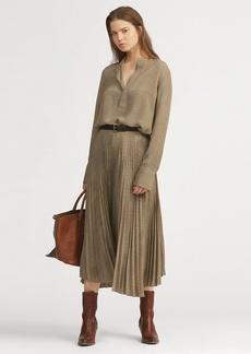 Ralph Lauren Plaid Pleated Midi Skirt