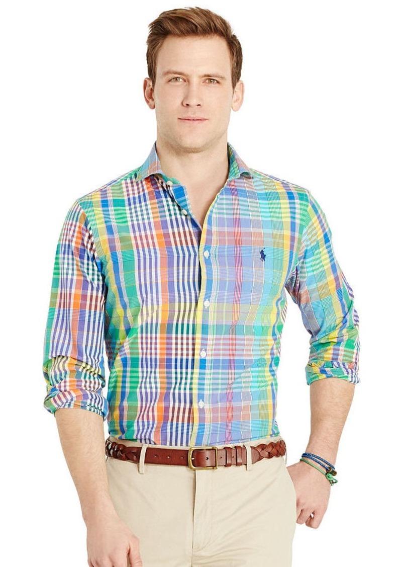 Ralph Lauren Plaid Poplin Sport Shirt