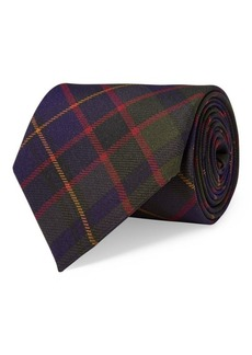 Ralph Lauren Plaid Silk Crepe Tie
