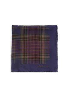 Ralph Lauren Plaid Silk Pocket Square