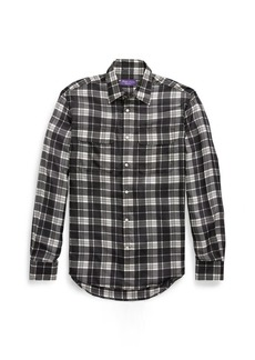 Ralph Lauren Plaid Silk Shirt
