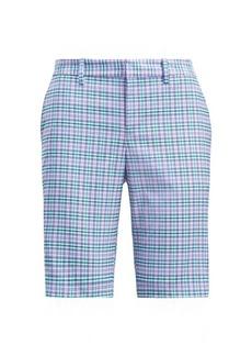 Plaid Stretch Cotton Short