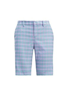 Plaid Stretch Cotton Short