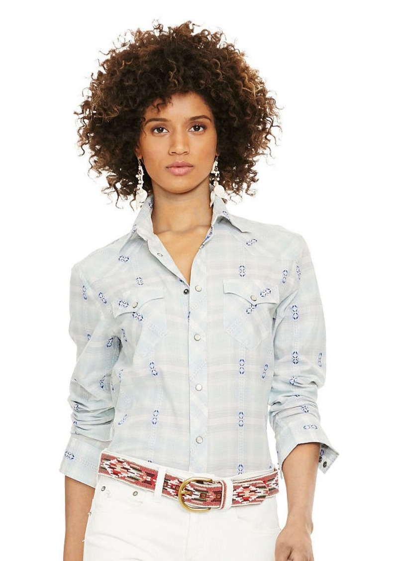 Ralph Lauren Plaid Western Shirt