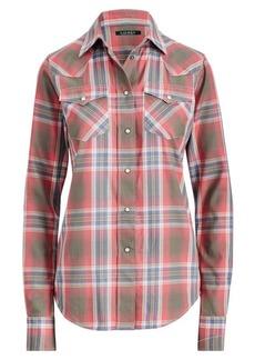 Ralph Lauren Plaid Western Shirt