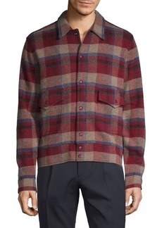 Ralph Lauren Plaid Wool & Cashmere Shirt Jacket