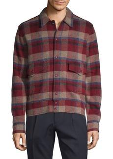 Ralph Lauren Plaid Wool & Cashmere Shirt Jacket