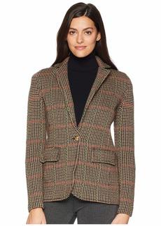 Ralph Lauren Plaid Wool Blend Blazer