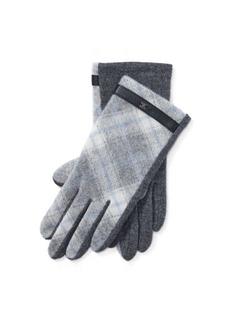 Ralph Lauren Plaid Wool-Blend Tech Gloves