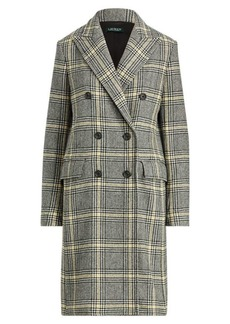 Ralph Lauren Plaid Wool-Blend Trench Coat