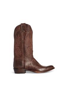 Ralph Lauren Plainview Leather Cowboy Boot