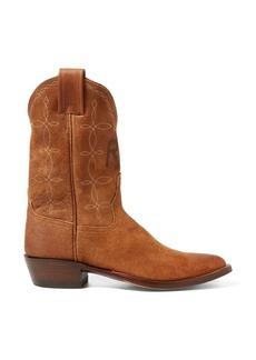 Ralph Lauren Plainview Suede Cowboy Boot