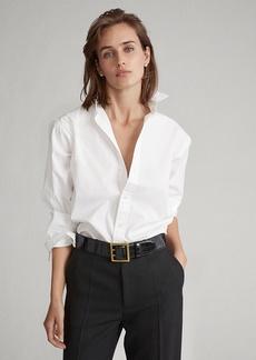 Ralph Lauren Pleated-Bib Broadcloth Shirt