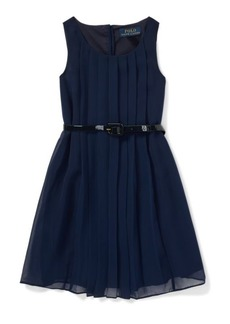 Ralph Lauren Pleated Chiffon Dress