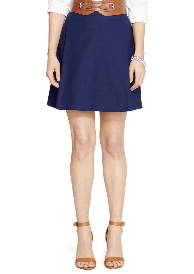 Ralph Lauren Pleated Cotton Miniskirt