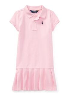 Ralph Lauren Pleated Cotton Polo Dress