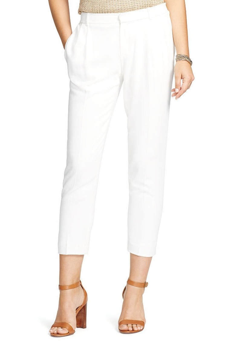 Ralph Lauren Pleated Crepe Skinny Pant