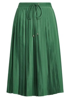 Ralph Lauren Pleated Crepe Skirt