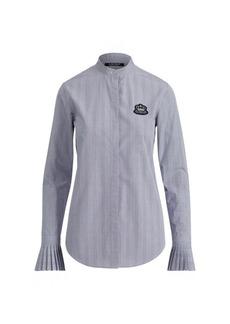 Ralph Lauren Pleated-Cuff Cotton Shirt