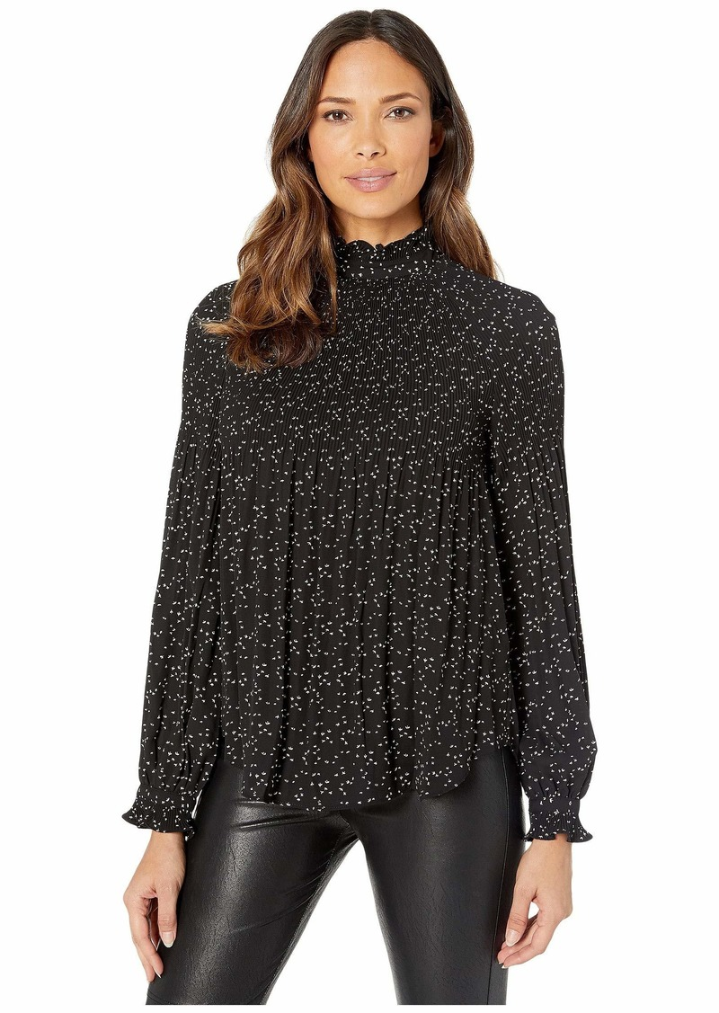 Ralph Lauren Pleated Georgette Blouse