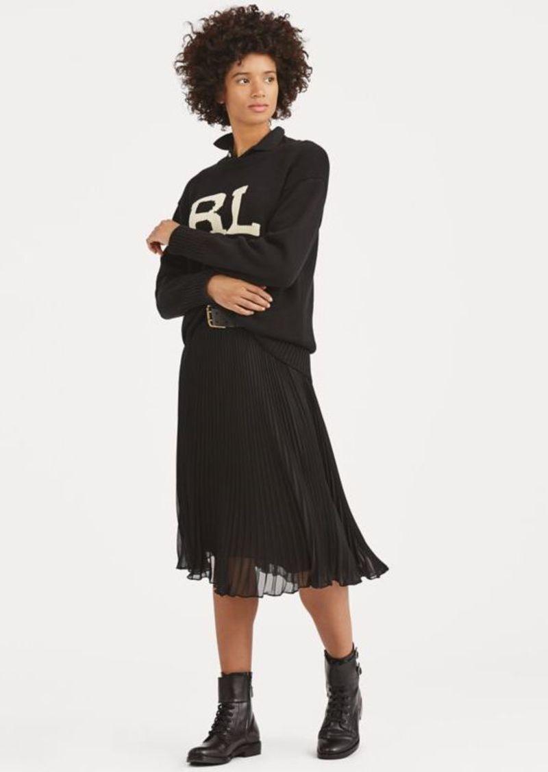 Ralph Lauren Pleated Georgette Skirt
