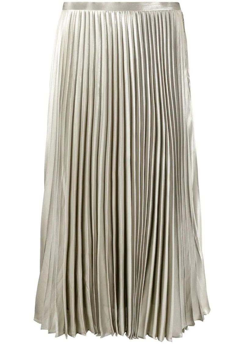 Ralph Lauren pleated metallic midi skirt