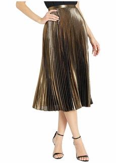 Ralph Lauren Pleated Metallic Skirt