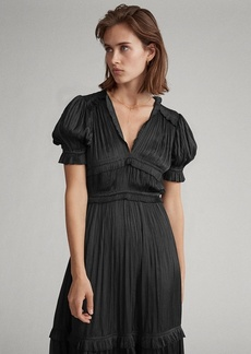 Ralph Lauren Pleated Satin Dress