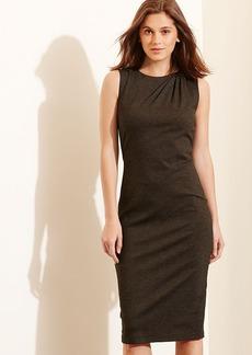 Pleated-Shoulder Ponte Dress