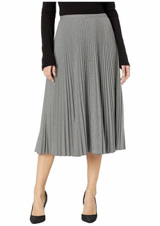Ralph Lauren Pleated Twill A-Line Skirt