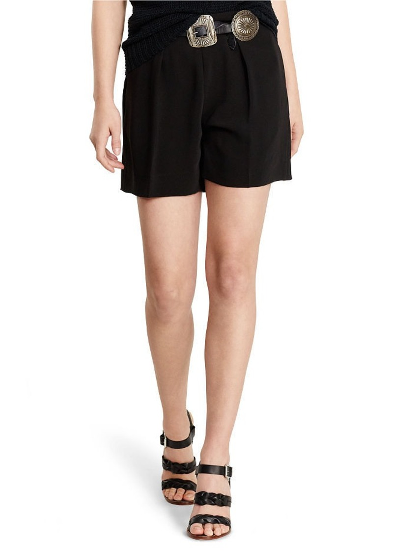 Ralph Lauren Pleated Twill High-Rise Short