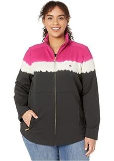 Ralph Lauren Plus Size Cotton-Blend Mock Neck Jacket
