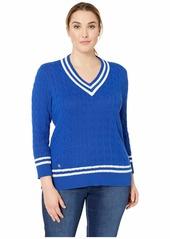 Ralph Lauren Plus Size Cotton Cricket Sweater