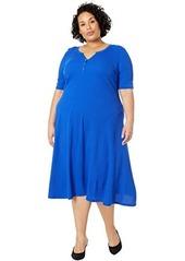 Ralph Lauren Plus Size Cotton Henley Dress
