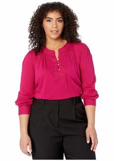 Ralph Lauren Plus Size Cotton Jersey Top