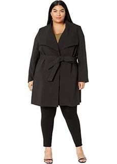 Ralph Lauren Plus Size Crepe Drape Front Wrap