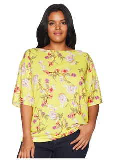 Ralph Lauren Plus Size Floral Linen-Blend Top