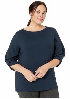 Ralph Lauren Plus Size Jersey Boatneck Top