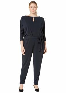 Ralph Lauren Plus Size Jersey Keyhole Jumpsuit