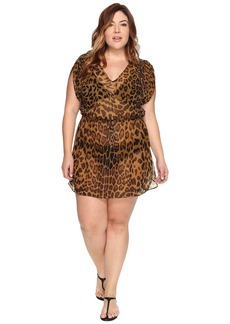 Ralph Lauren Plus Size Leopard Tunic Cover-Up